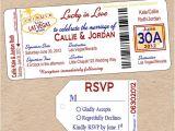 Printable Las Vegas Wedding Invitations Items Similar to Vegas Boarding Pass Wedding Invitation