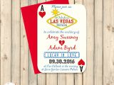 Printable Las Vegas Wedding Invitations Las Vegas Wedding Invitation Poker Playing Card Vegas Wedding