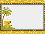 Printable Lion King Baby Shower Invitations Lion King Blank Invitation
