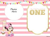 Printable Minnie Mouse First Birthday Invitations Free Printable Minnie Mouse 1st Invitation Templates