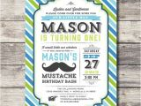 Printable Mustache Birthday Invitations Printable Little Man Mustache Bash Invitation Birthday
