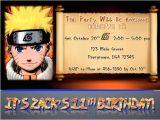 Printable Naruto Birthday Invitations Items Similar to Custom Naruto Birthday Party Invitation