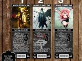Printable Naruto Birthday Invitations Novel Concept Designs Naruto Anime Birthday Party Ticket