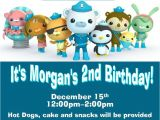 Printable Octonauts Birthday Invitations Custom Octonauts Party Invitations