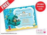 Printable Octonauts Birthday Invitations Free Octonauts Invite Freeprintables4u