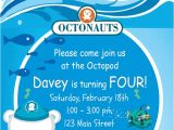 Printable Octonauts Birthday Invitations Items Similar to New Octonauts Inspired Custom Printable