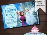 Printable Personalized Frozen Birthday Invitations Frozen Printable Invitation Custom Frozen Invitation for