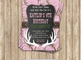 Printable Pink Camo Birthday Invitations Camo Girl Hunting 6 Birthday Party Printable Invitation
