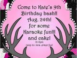 Printable Pink Camo Birthday Invitations Pink Camo Birthday Party Invitation Jpeg 300 by