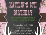 Printable Pink Camo Birthday Invitations Pinterest • the World's Catalog Of Ideas