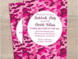 Printable Pink Camo Birthday Invitations Printable Bachelorette Party Invitation Pink Camo by Ladyannes