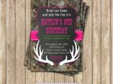 Printable Pink Camo Birthday Invitations Realtree Camo Girl Hunting 3 Birthday Party Printable
