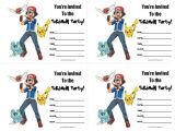 Printable Pokemon Birthday Invitations 111 Best Images About All Free Printable On Pinterest