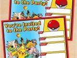 Printable Pokemon Birthday Invitations Free Printable Pokémon Birthday Invitation