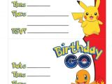 Printable Pokemon Birthday Invitations Go Free