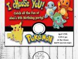 Printable Pokemon Birthday Invitations Pokemon Birthday Invitations Personalized