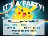 Printable Pokemon Birthday Invitations Pokemon Coloring Pages