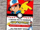Printable Pokemon Birthday Invitations Pokemon Party Invitations Ideas Party Xyz
