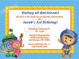 Printable Team Umizoomi Birthday Invitations Printable Team Umizoomi Birthday Invitation 4×6 by