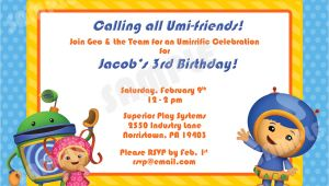 Printable Team Umizoomi Birthday Invitations Printable Team Umizoomi Birthday Invitation 4×6 by