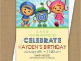 Printable Team Umizoomi Birthday Invitations Team Umizoomi Birthday Invitation by Brownpaperstudios On Etsy