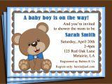 Printable Teddy Bear Baby Shower Invitations Blue Teddy Bear Invitation Printable or Printed with Free