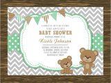 Printable Teddy Bear Baby Shower Invitations Teddy Bear Baby Shower Invitation Printable Free Thank You