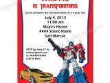 Printable Transformer Birthday Invitations Items Similar to Transformers theme Printable Invitation