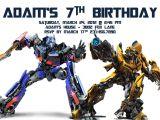 Printable Transformer Birthday Invitations Transformer Birthday Invitations Bagvania Invitations