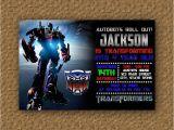 Printable Transformer Birthday Invitations Transformer Optimus Prime Birthday Invitation Printable