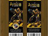 Printable Transformer Birthday Invitations Transformers Bumblebee Ticket Birthday Invite Splashbox