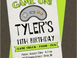 Printable Video Game Birthday Party Invitations Game Truck Printable Invitation Video Gamer the Homespun
