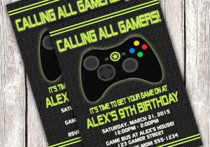 Printable Video Game Birthday Party Invitations Gamer Invitation Video Game Birthday Party Diy Printable