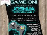Printable Video Game Birthday Party Invitations Printable Video Game Party Invitation