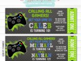 Printable Video Game Birthday Party Invitations Printable Video Game Ticket Birthday Invitation Boys