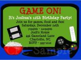 Printable Video Game Birthday Party Invitations Video Game Birthday Invitation Printable Party Invite by