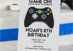 Printable Video Game Birthday Party Invitations Video Game Birthday Party Invitation Black Controller