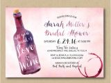 Printable Wine themed Bridal Shower Invitations Printable Bridal Shower Invitation Wine Shower Invitation