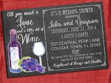 Printable Wine themed Bridal Shower Invitations Printable Wine theme Couples Coed Wedding Shower Invitation I