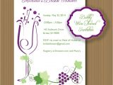 Printable Wine themed Bridal Shower Invitations Printable Wine themed Invitations