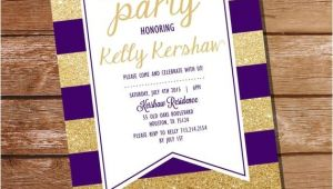 Printing Graduation Invitations at Home Purple and Gold Graduation Invitation Gold Graduation