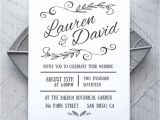 Printing Wedding Invitations at Home Printable Wedding Invitation Template Rustic Alchemie