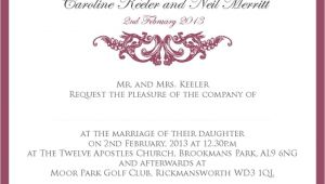 Proper Wording Of Wedding Invitations Proper Wedding Invitation Wording Wedding Invitation
