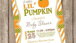 Pumpkin Baby Shower Invitations Etsy Fall Little Pumpkin Baby Shower Invitation orange Brown