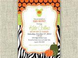 Pumpkin Baby Shower Invitations Etsy Items Similar to Pumpkin Baby Shower Invitation Halloween