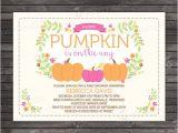 Pumpkin Baby Shower Invitations Etsy Little Pumpkin Baby Shower Invitation by Stockberrystudio