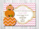 Pumpkin Baby Shower Invitations Etsy Little Pumpkin Baby Shower Invitation Pink and orange