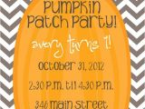 Pumpkin Patch Party Invitations Pumpkin Patch Chevron Invite Print Your Own by