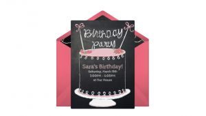 Punchbowl Birthday Invitations Free Chalkboard Birthday Cake Line Invitation