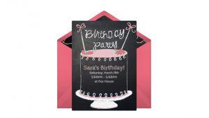 Punchbowl Birthday Invitations Free Chalkboard Birthday Cake Line Invitation
